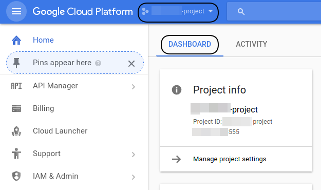 Create Cloud Platform Projects Using GCP Console – Get
